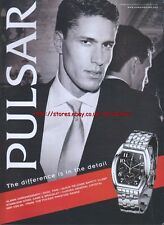 Pulsar Alarm Chronograph Watch 2002 Magazine Advert #2519