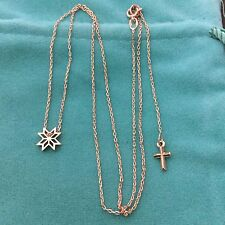 2,25grNEW 14k 14ct solid red Russian gold 585 Necklace CHRISTMAS STAR Cross love