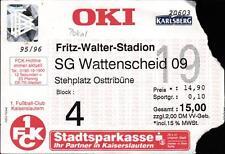 Billet DFB-Coupe 95/96 1. FC Kaiserslautern-sg wattenscheid 09