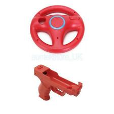 Racing Steering Wheel + Motion Plus Function Vibration Gun for Nintendo Wii