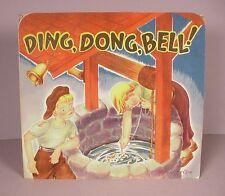 Vintage children's Pop Up Book ;  Ding, Dong Bell  Paper toy Geraldine Clyne