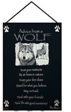 Advice From A Wolf ~ True Nature Tapestry Wall Hanging