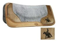 "Showman 32""X31 Contoured Argentina Cowhide Saddle Pad w/ Reining Horse NEW TACK"