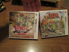 LOT 2 Legend of Zelda: Tri Force Heroes + Hyrule Warriors Legends Nintendo 3DS