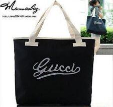Black letters Women Tote Bag Shoulder Bag Handbag Canvas shopping bag