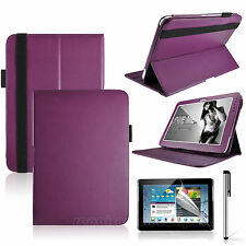 Purple 360° Rotatable PU Leather Case Protector for Samsung Galaxy Tab 2 10.1''