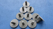 RENAULT CLIO GREY TRIM PANEL FIR TREE/SPRUCE BUTTON CLIPS 10PCS