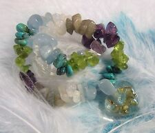 Natural gemstone bracelet with orgone heart - ballance and happiness