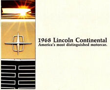 1968 LINCOLN CONTINENTAL DELUXE BROCHURE -LINCOLN CONTINENTAL 2D COUPE-4D SEDAN