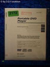 Sony Bedienungsanleitung MV 65ST DVD Player (#2172)