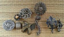 Ancien lot de bijoux anciens art pop, old french  jewels