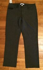 NWT Womens Grey CALVIN KLEIN Ultimate Power Stretch Skinny Jeans Pants Size 16