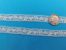 """French Heirloom Cotton Lace Insertion 1/2"""" Ivory Fashion/Craft/Doll Lace 897I"""