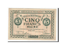 [#162567] France, Wattrelos, 5 Francs, 1915, SUP+, Pirot:59-2764