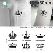 HC1130 Fashion Imperial Crown Fast Body Tattoo Small Scars Cover Body Art Sticke