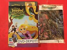 Tangled: Before Ever After DVD & Slipcover & Free Rapunzel 's Journal Charm NEW!