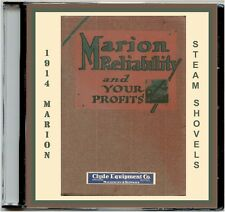 1914 Marion Steam Shovel Catalog #93 CD-Mdls21,28,31&36