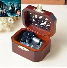 WOODEN OCTAGON CARVING MUSIC BOX : Harry Potter Hedwig's Theme