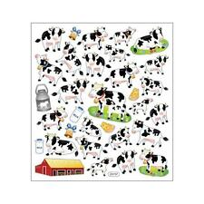 Scrapbooking Crafts Stickers Sticker King Got Milk? Cows Cheese Barn Bells Baby
