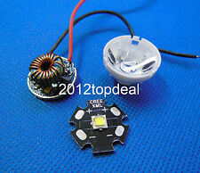 Cree XML2 XM-L2 White Led + Dimmable Driver 5 Mode For DC 3.7V~15V+lens