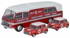 Oxford Diecast 1/76 BMC003 BMC Car Transporter and Two Minis BMC Competitions