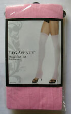 LOLITA PINK OPAQUE LEG WARMERS STOCKINGS FOOTLESS GREAT WITH HEELS LEG AVENUE