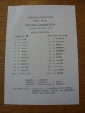 06/03/1982 Aston Villa Reserves v Newcastle United Reserves  (Single Sheet, Scor