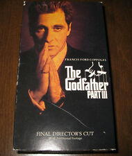 "VHS 2 tapes ""The Godfather Part III"" Al Pacino, Diane Keaton, Talia Shire"