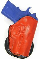 "Premium Brown Leather PADDLE Holster for KIMBER ULTRA CARRY UC II 3"" 1911"