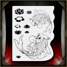 Koi Pond 2 Airbrush Stencil Template Paint Airsick