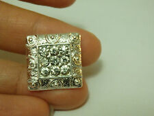 2 diamante buttons square rhinestone crystal embellishment sewing 18 mm-12