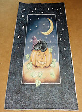 Spooky Friends Halloween Black Cat Crafters Tapestry Wall Hanging Fabric Remnant