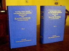 X352_MANUALE DEL RAGIONIERE e DEL CAPO D'AZIENDA,C. Dompé-Sonzogno 1968 2 Volumi