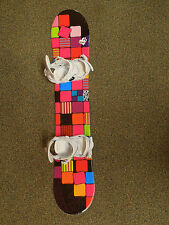 SIONYX Quilt Snowboard w/ M3 Bindings  Womans Specific144cm   NEW!