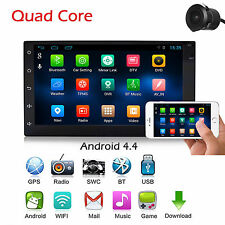 "Android 4.4 7"" Double 2 Din Car Radio Gps Player Wifi Bt Navi With Backup Camera"