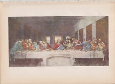 "1939 Vintage ""THE LAST SUPPER"" by LEONARDO DA VINCI Color Art Plate Lithograph"