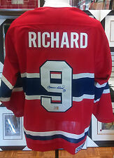 NHL MONTREAL CANADIENS MAURICE RICHARD SIGNED CCM JERSEY WITH COA