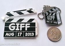 ☆ GIFF Geocoin &tag Set Geocaching International Film Festival Clapperboard