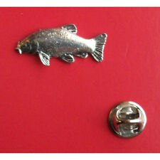 English Pewter  Fish Fishing TENCH Pin Badge Tie Pin / Lapel Badge F18