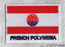 patch 060- Écusson patch flag POLYNESIA 70/45 mm