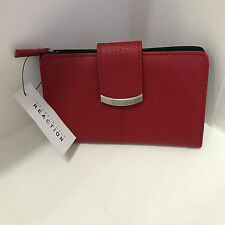 NEW ARRIVAL! KENNETH COLE REACTION TAB INDEXER RED TRIFOLD CLUTCH WALLET $40