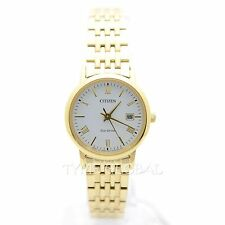 Citizen EW1582-54A Eco Drive White Dial Date Stainless Steel Watch EW1582-54A