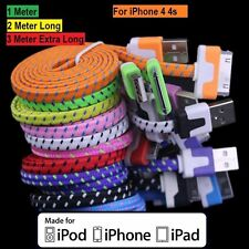 Strong Braided USB Data Sync Charger Cable For iPhone 4 4S 3G 3GS iPad 2 iPod