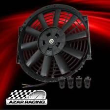 Black Universal 12 Inch Slim Pull/Push Radiator Engine Bay Cooling Fan 12Volts