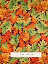 Harvest Fall Fabric - Shades of Season Autumn Leaf Metallic Robert Kaufman YARD