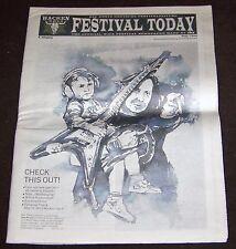 Festival Today - Wacken Open Air Newspaper -  1. Ausgabe 2011