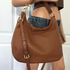 NWT MICHAEL KORS LARGE BROWN CROSSBODY SHOULDER LEATHER HANDBAG BAG PURSE
