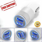 UNIVERSAL TWIN 2 PORT USB 12V DUAL CAR CHARGER CIGARETTE SOCKET LIGHTER SILVER