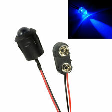 Large 10mm Flashing Blue LED Car Motorcycle Shed Dummy Fake Alarm + Clip