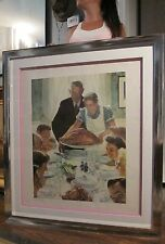 Gigantic Norman Rockwell four freedom dinner Arthur Jaffe collotype print 4 foot